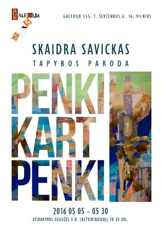 S. Savickas parodos plakatas