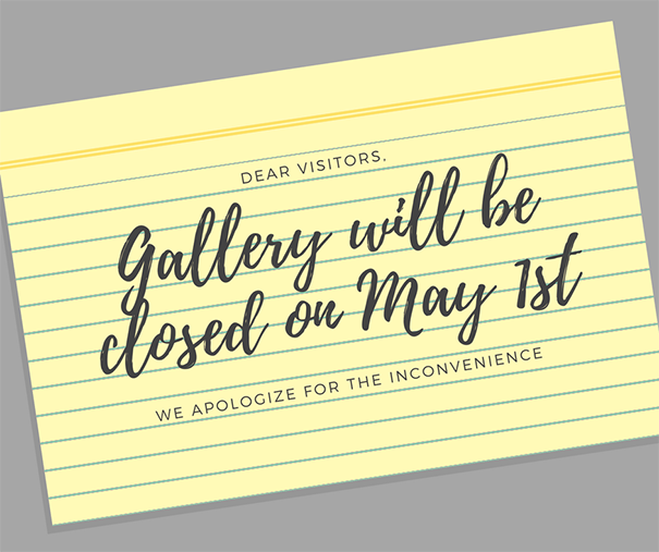 Closed on May 1st